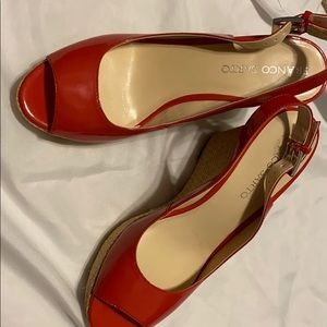 Franco Sarto Womens 8 1/2 Red Wedges